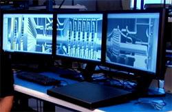 CAD Mobile Workstation with Multiple Displays