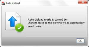 AutoCAD WS prompts about saved changes. Click for larger image. Image courtesy of Autodesk, Inc.