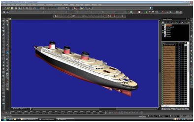 Model of the Normandie rendered in TurboCAD Pro v19.