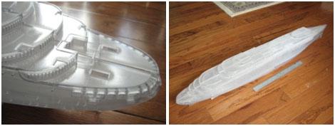 3D print model of the Normandie.